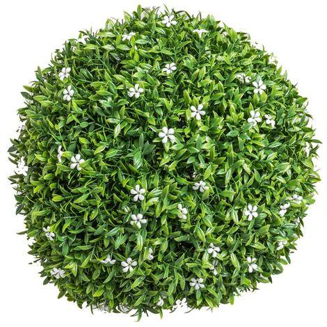 Bola boj artificial jardín Azahar grande verde de Ø 30 cm