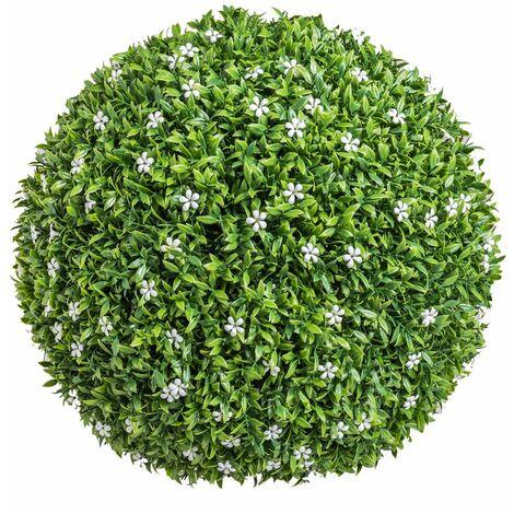 Bola boj artificial jardín Azahar grande verde de Ø 40 cm