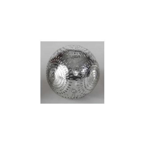 Bola de decoración de resina 10cm Diseño metálico Hogar y mas B