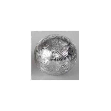 Bola de decoración de resina 10cm Diseño metálico Hogar y mas C