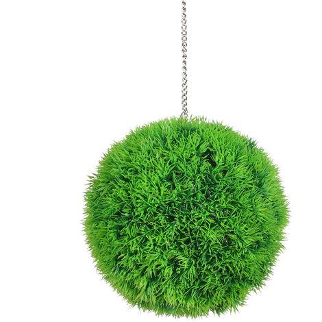 Bola de hierba artificial, bola de hierba falsa realista,35cm