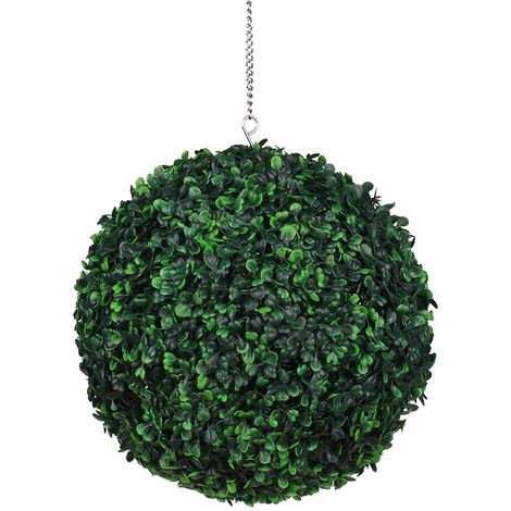 Bola de hierba artificial, bola de hierba falsa,verde oscuro, 35cm