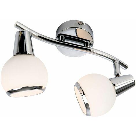 bola de la lámpara de techo del LED sala de estar de vidrio de cromo radiador pared Spots luces Nino móviles 81230206