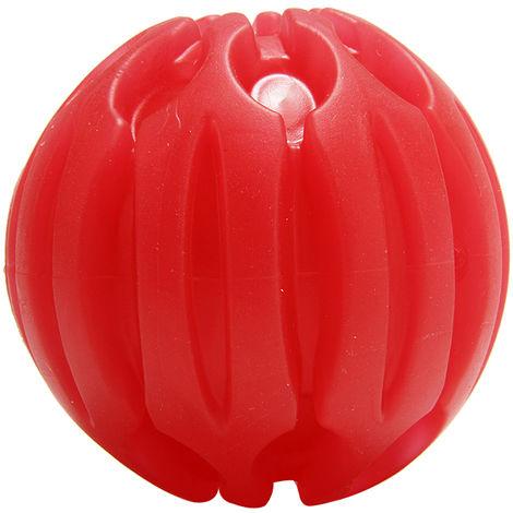Bola de mordida LED brillante, para adiestramiento de perros,rojo,M