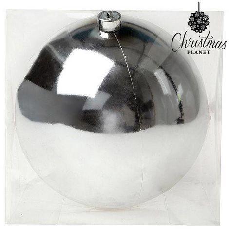 Bola de Navidad Christmas Planet 7605 20 cm Plateado