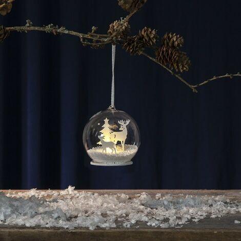 Bola de Navidad Patrón blanco brillante
