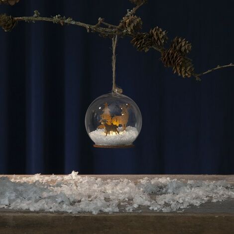 Bola de Navidad Patrón de madera brillante