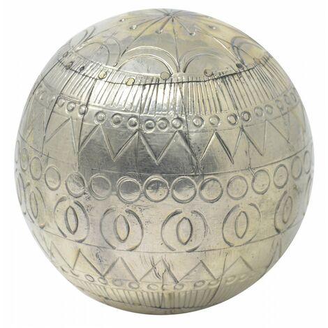 Bola Decorativa de Resina Dorada, Bola con estilo Hindú, Ideal para el Salón/Dormitorio. Étnico/Moderno, Ø9cm - Hogar y Más