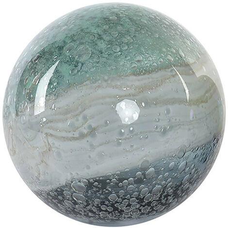 Bola Decorativa realizada en Cristal, Multicolor. Diseño Abstracto, con estilo Contemporáneo. Diámetro de 12cm - Hogar y Más A
