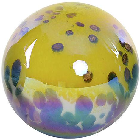Bola Decorativa realizada en Cristal, Multicolor. Diseño Abstracto, con estilo Contemporáneo. Diámetro de 12cm - Hogar y Más B