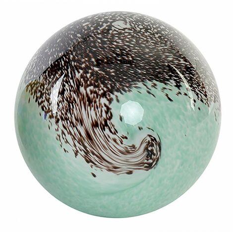 Bola Decorativa realizada en Cristal, Multicolor. Diseño Abstracto, con estilo Contemporáneo. Diámetro de 12cm - Hogar y Más C
