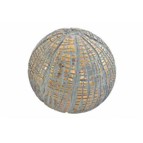 Bola Decorativa realizada en Resina, de color Dorado con acabado Vintage. Diseño Moderno, con estilo Contemporáneo - Hogar y Más