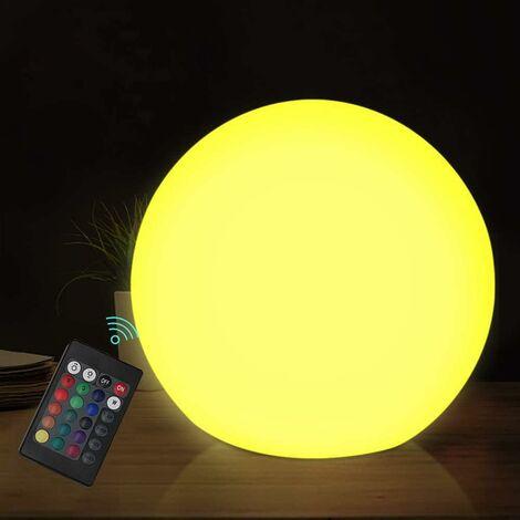 Bola flotante LED LangRay, luz nocturna impermeable de 3 pulgadas con control remoto, 16 colores RGB y luz nocturna regulable, muy adecuada para niños o decoración del hogar