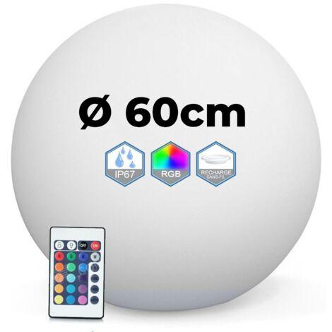 "main image of ""Bola led luminosa multicolor 40 cm inalámbrica hecha de polietileno grueso"""