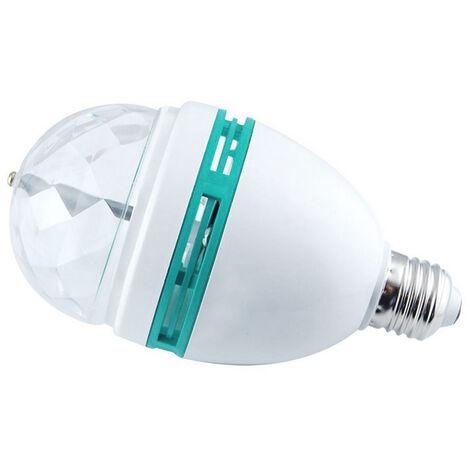 bola magica giratoria coloree LED luz E27-3W