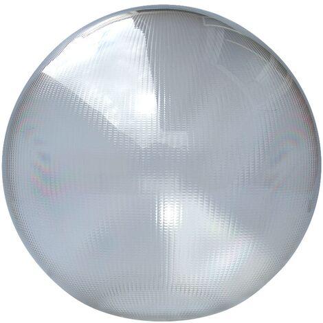 Bola policarbonato prismática incolora con boca -Disponible en varias versiones