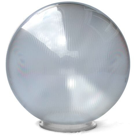 Bola policarbonato prismática incolora con cuello bayoneta -Disponible en varias versiones