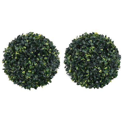 Bolas de boj artificial 2 unidades 45 cm - Verde