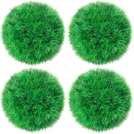 Bolas de boj artificial 4 unidades 12 cm - Verde