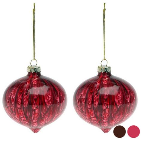 Bolas de Navidad (2 pcs) 112490 | Marrón