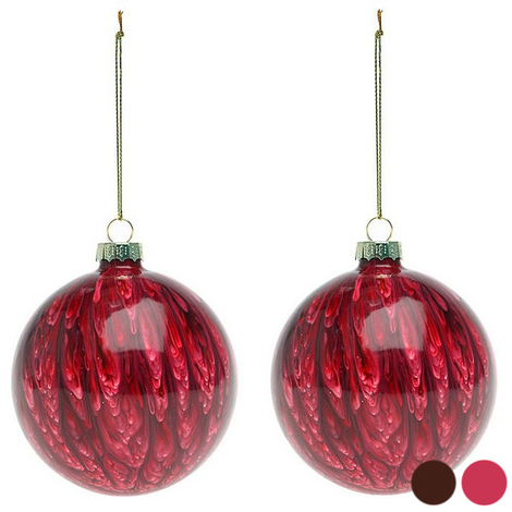 Bolas de Navidad (2 pcs) 113572 | Rojo