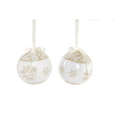 Bolas de Navidad Doradas, para Decoración Navideña. Diseño de Copos de Nieve, con estilo Festivo. Set de 14 - Hogar y Más