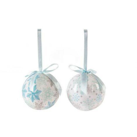 Bolas de Navidad en Set de 14, Diseño de Copos de Nieve. Decoración Navideña/Original