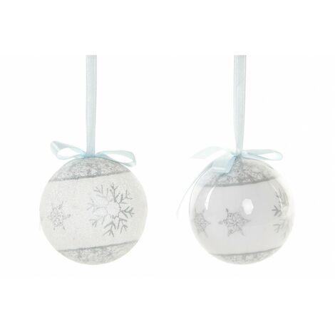 Bolas de Navidad Plateadas, para Decoración Navideña. Diseño de Copos de Nieve, con estilo Festivo. Set de 14 - Hogar y Más