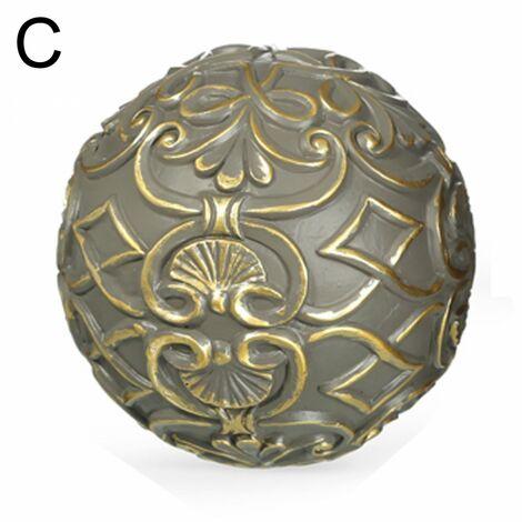 Bolas para decoración Oro-Gris (10x10x10 cm) Resina C
