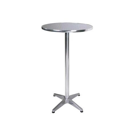 Boley Aluminium Outdoor, Indoor Tall Poseur Table Flip Top Space Saver Option