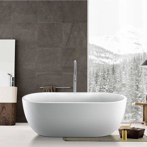 Bologna 1415mm x 750mm Oval Modern Freestanding Bath