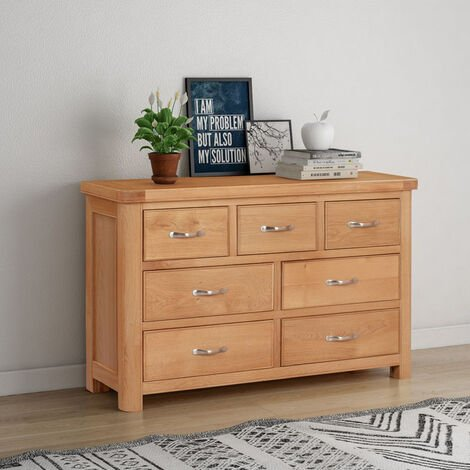 Bologna Oak Tall Chest with 5 Drawers