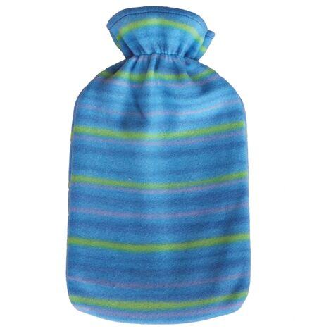 Bolsa agua caliente de caucho, revestimiento poliéster 2Litros azul HWB2