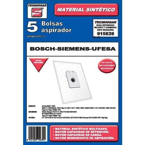 Bolsa aspirador papel bosch-siemens-ufesa thogar 5 pz 915639