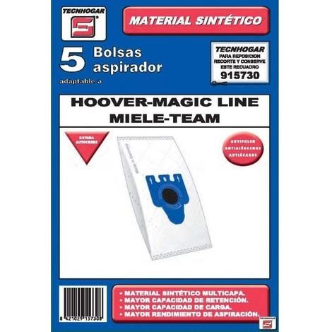 Bolsa aspirador papel hoover-miele thogar 5 pz 915730