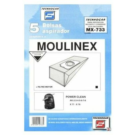 Bolsa Aspirador Papel Moulinex Power Thogar 5 Pz 910733