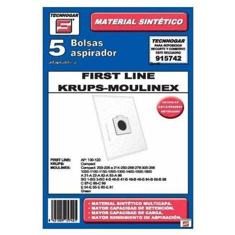 Bolsa Aspirador Papel Moulinex Thogar 5 Pz 915742