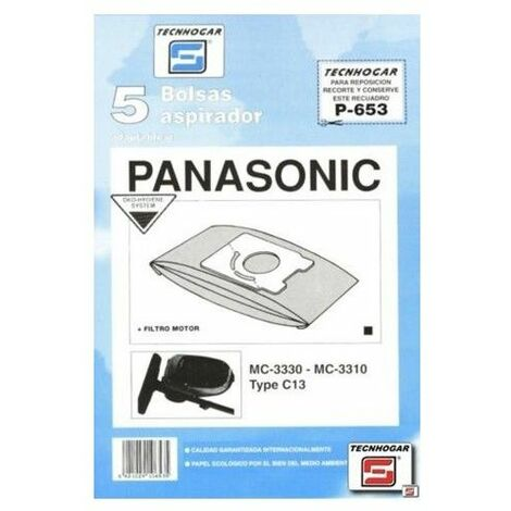 Bolsa Aspirador Papel Panasonic Mc3300 Thogar 5 Pz 910653