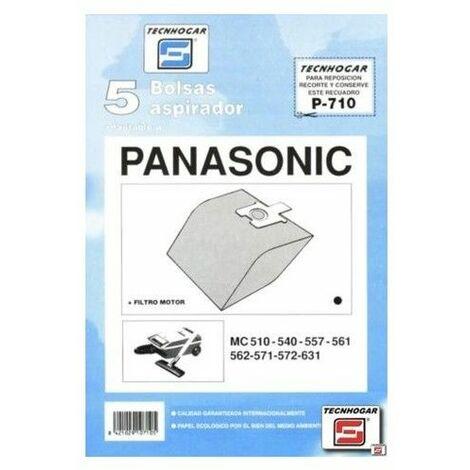 Bolsa Aspirador Papel Panasonic Mc571 Thogar 5 Pz 910710