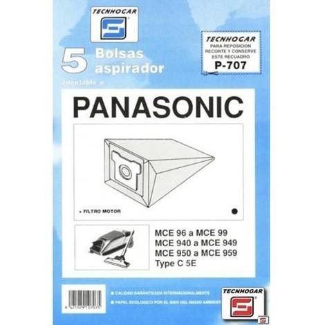 Bolsa aspirador papel panasonic mc90 thogar 5 pz 910707