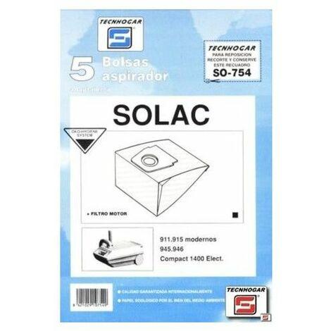 Bolsa Aspirador Papel Solac 911 Thogar 5 Pz 910754