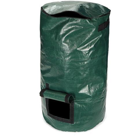 Bolsa de abono orgánico 80L Papelera de abono Bolsa de siembra de residuos de cocina compostable y alternativa Sasicare