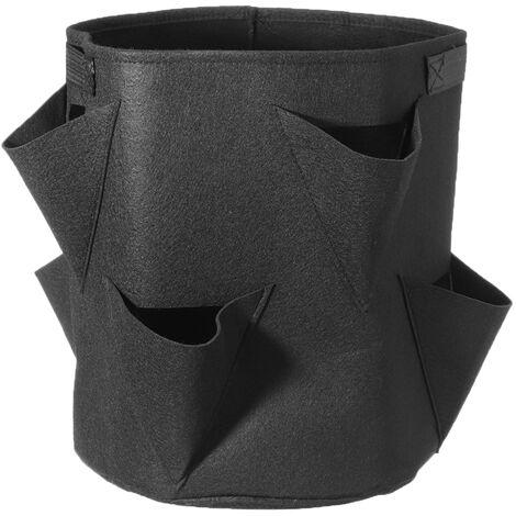 Bolsa de bolsillo Contenedor de verduras Negro 35 * 45cm