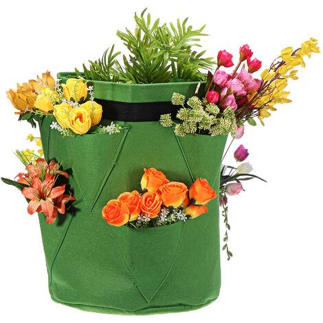 Bolsa de bolsillo verde Contenedor de verduras 35 * 45cm
