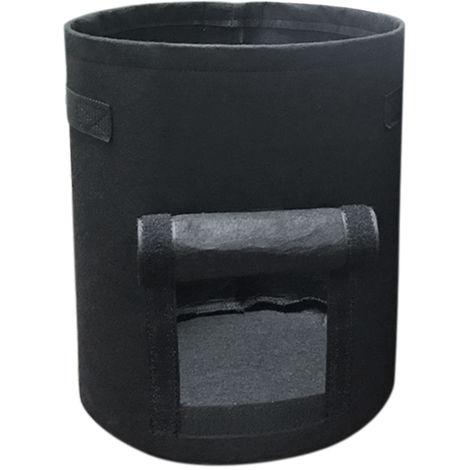 Bolsa de cultivo para jardineria, con asas, 4 galones, negro