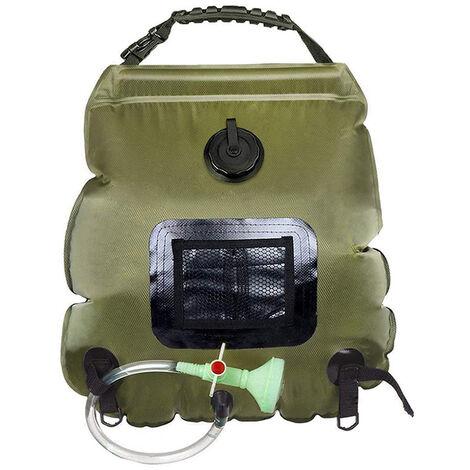Bolsa de ducha caliente solar al aire libre portatil, bolsa de ducha para acampar con calefaccion