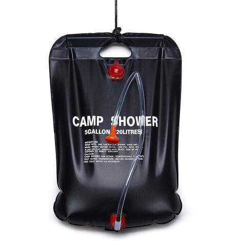 Bolsa de ducha caliente solar al aire libre portatil, bolsa de ducha que acampa con calefaccion, 20L