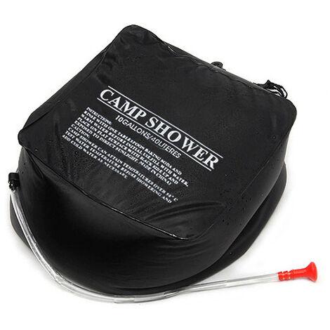 Bolsa de ducha caliente solar al aire libre portatil, bolsa de ducha que acampa con calefaccion, 40L
