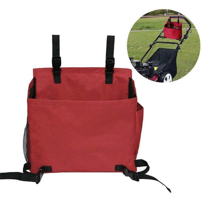 Happyshopping - Bolsa de herramientas de jardin, con bolsillos Accesorios para cortacesped de empuje, Bolsa de almacenamiento de herramientas de