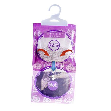 Bolsa deshumidificadora colgante con aroma a lavanda absorbente de humedad desecante a prueba de humedad a prueba de humedad